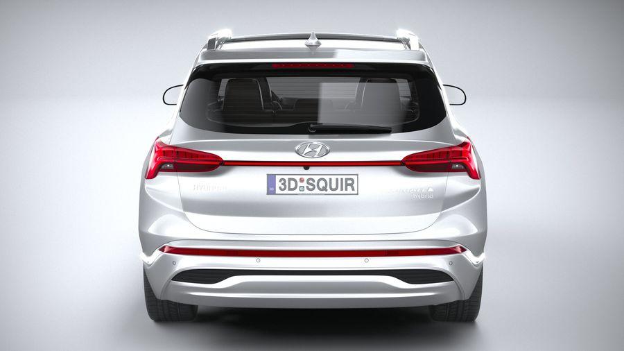 Hyundai SantaFe 2021 royalty-free 3d model - Preview no. 5