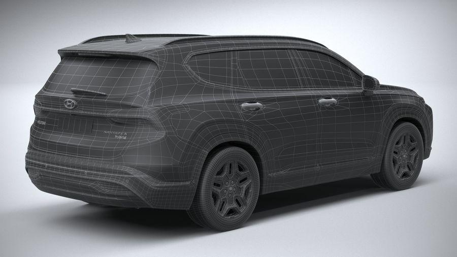 Hyundai SantaFe 2021 royalty-free 3d model - Preview no. 30
