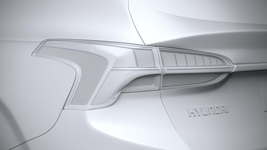 Hyundai SantaFe 2021 royalty-free 3d model - Preview no. 25