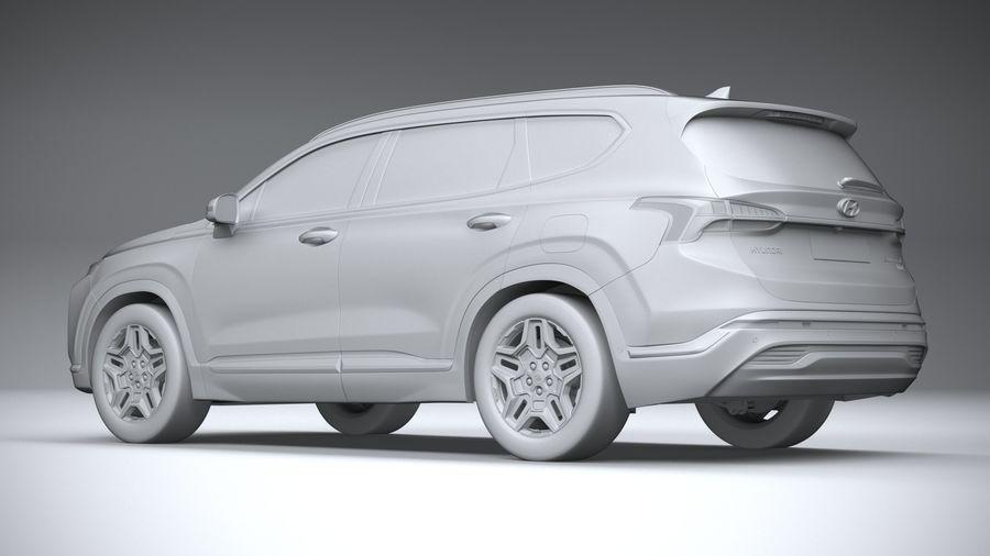 Hyundai SantaFe 2021 royalty-free 3d model - Preview no. 22