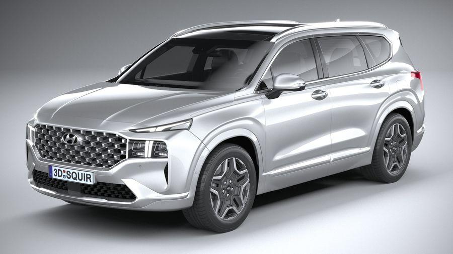 Hyundai SantaFe 2021 royalty-free 3d model - Preview no. 2
