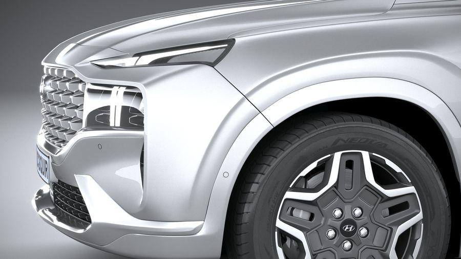Hyundai SantaFe 2021 royalty-free 3d model - Preview no. 4