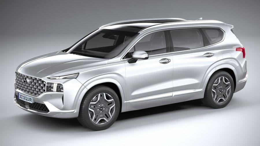 Hyundai SantaFe 2021 royalty-free 3d model - Preview no. 1