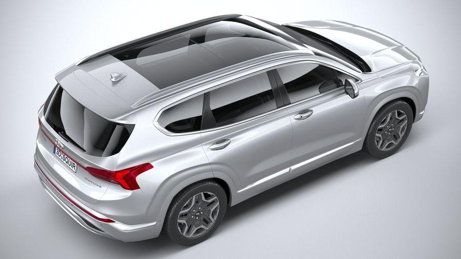 Hyundai SantaFe 2021 royalty-free 3d model - Preview no. 11