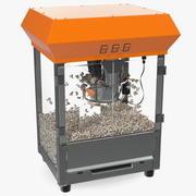 Maszyna do popcornu w stylu antycznym 3d model