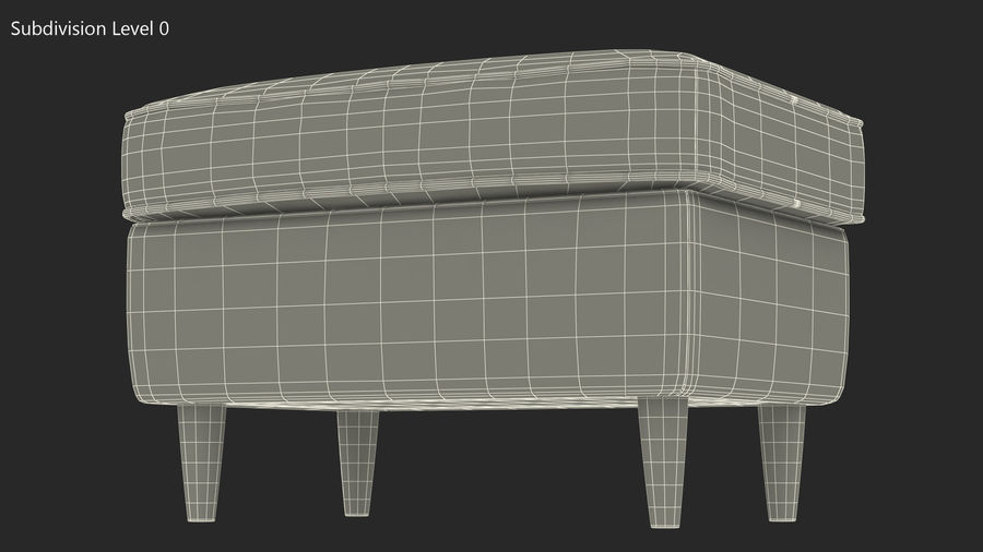 Grey Puff royalty-free 3d model - Preview no. 13