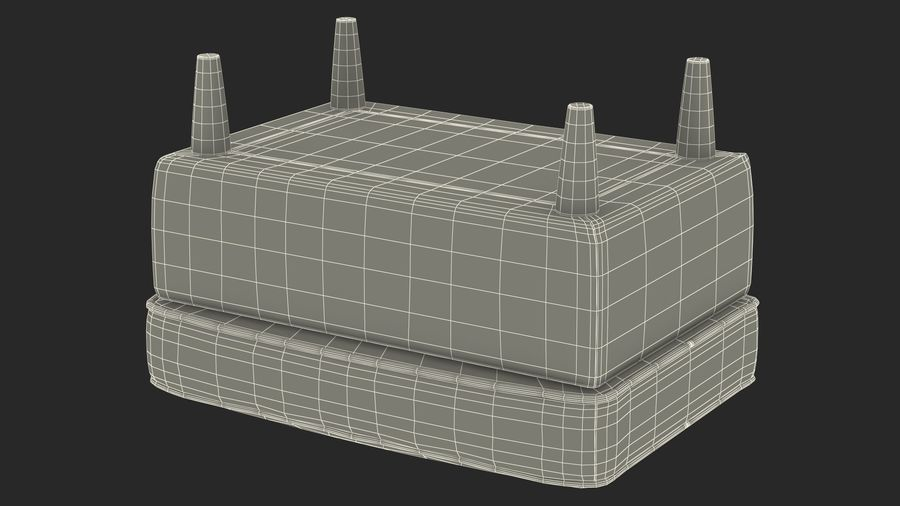 Grey Puff royalty-free 3d model - Preview no. 27