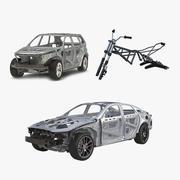 Colección de marcos de vehículos modelo 3d