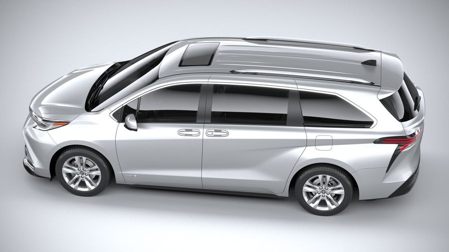 Toyota Sienna 2021 royalty-free 3d model - Preview no. 10
