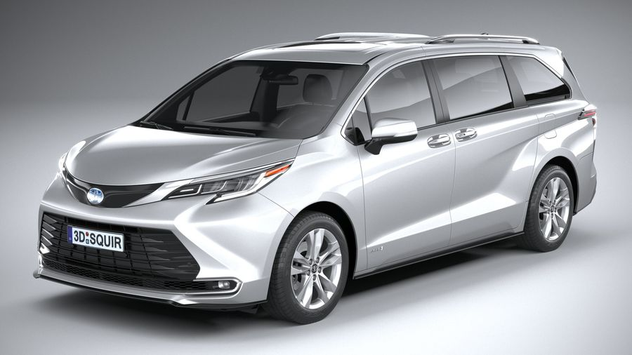 Toyota Sienna 2021 royalty-free 3d model - Preview no. 2