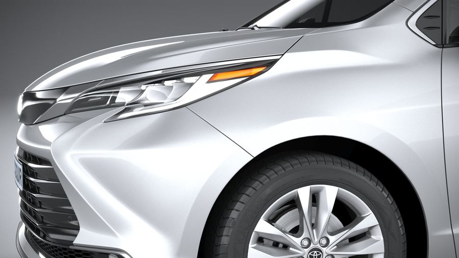 Toyota Sienna 2021 royalty-free 3d model - Preview no. 4