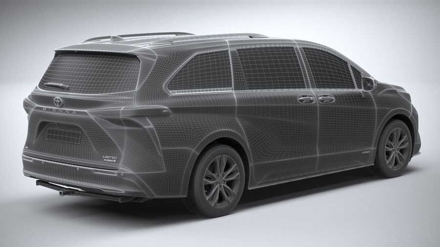 Toyota Sienna 2021 royalty-free 3d model - Preview no. 28
