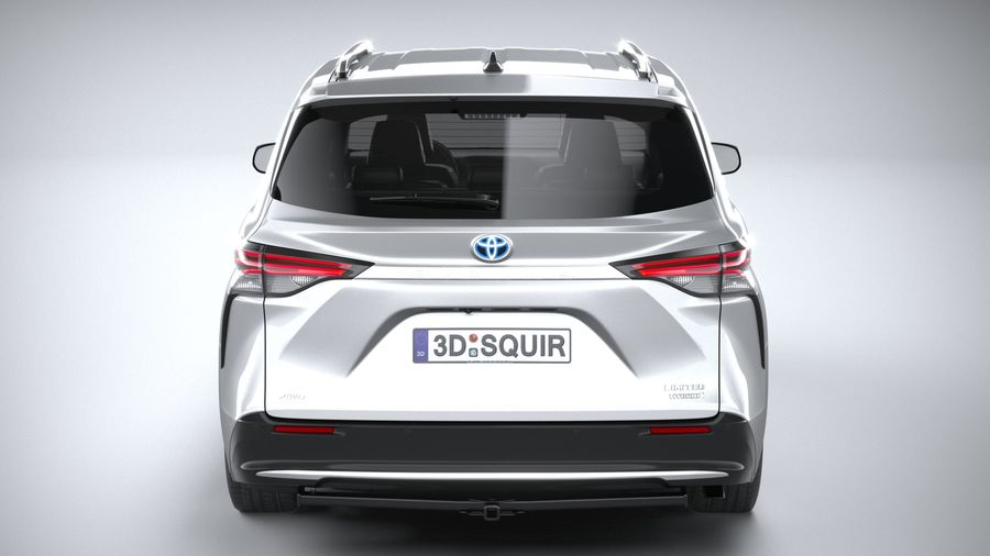 Toyota Sienna 2021 royalty-free 3d model - Preview no. 5