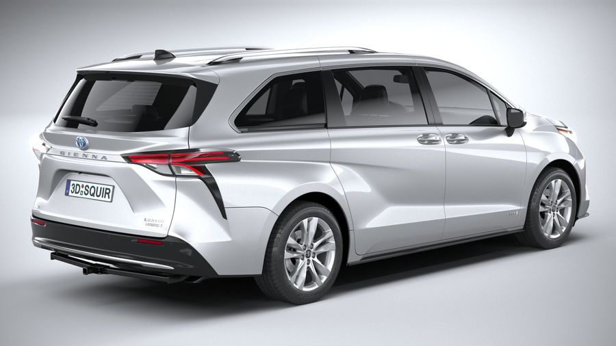 Toyota Sienna 2021 royalty-free 3d model - Preview no. 18