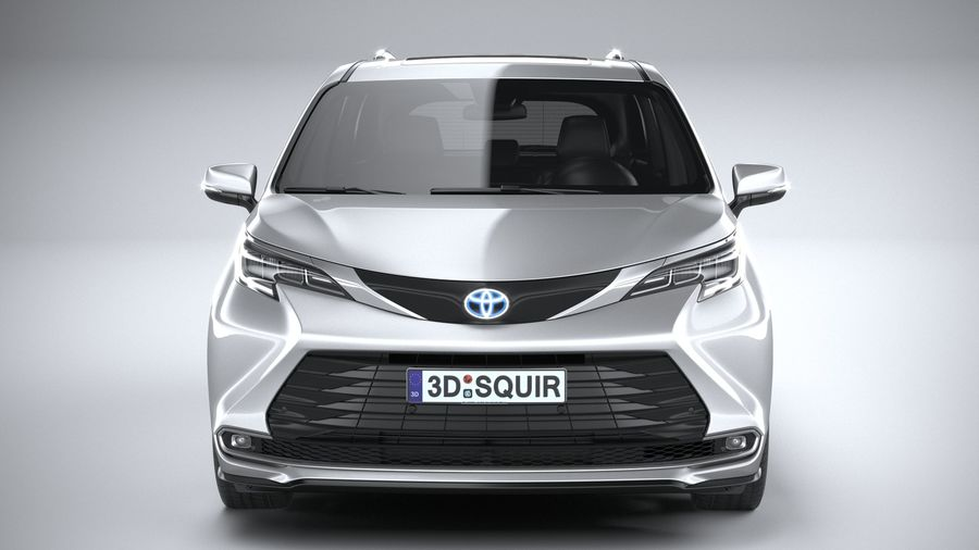 Toyota Sienna 2021 royalty-free 3d model - Preview no. 14