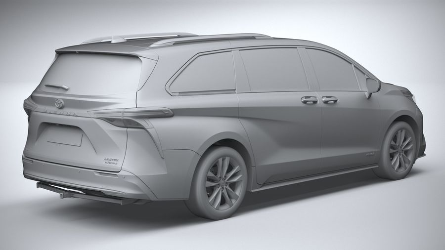 Toyota Sienna 2021 royalty-free 3d model - Preview no. 26
