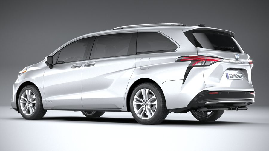 Toyota Sienna 2021 royalty-free 3d model - Preview no. 6