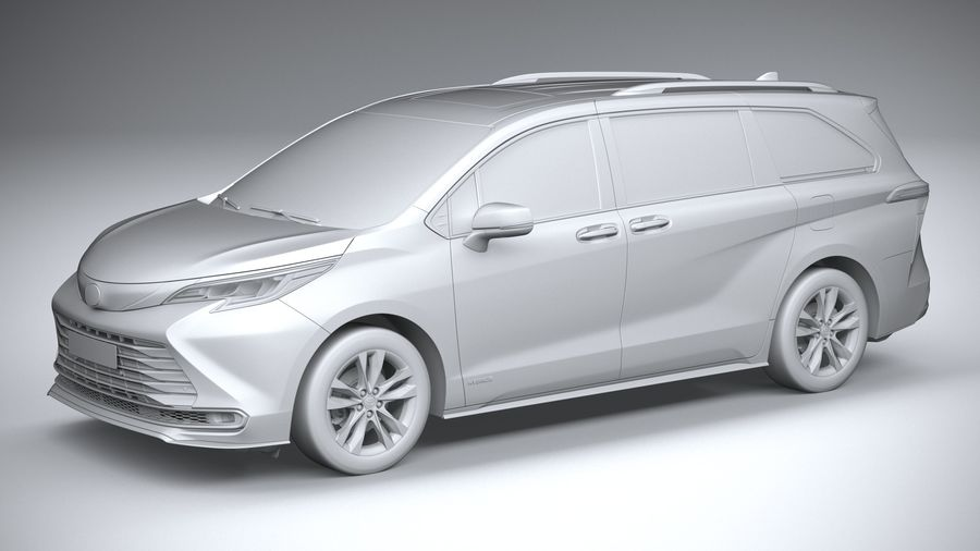 Toyota Sienna 2021 royalty-free 3d model - Preview no. 20
