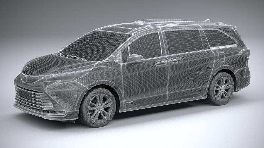 Toyota Sienna 2021 royalty-free 3d model - Preview no. 27