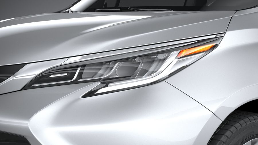Toyota Sienna 2021 royalty-free 3d model - Preview no. 15