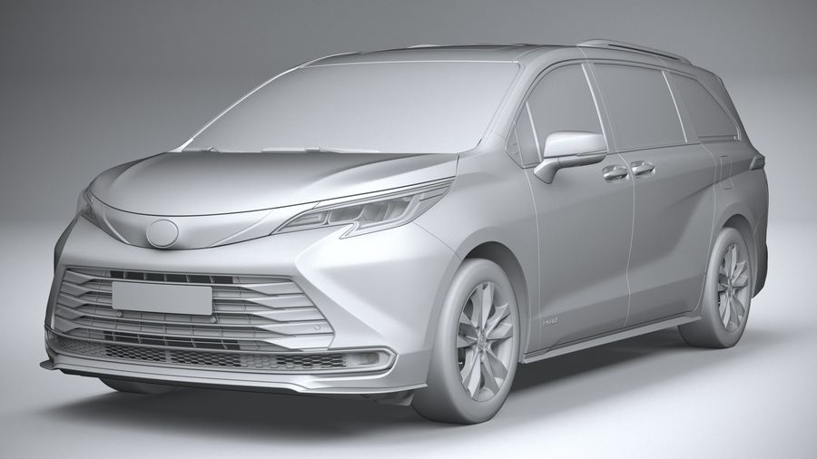 Toyota Sienna 2021 royalty-free 3d model - Preview no. 21