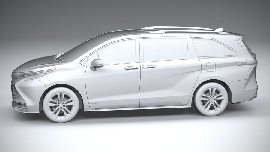 Toyota Sienna 2021 royalty-free 3d model - Preview no. 23