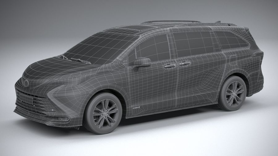 Toyota Sienna 2021 royalty-free 3d model - Preview no. 29