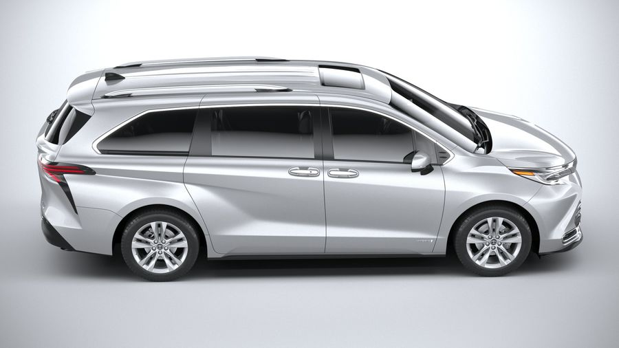 Toyota Sienna 2021 royalty-free 3d model - Preview no. 12