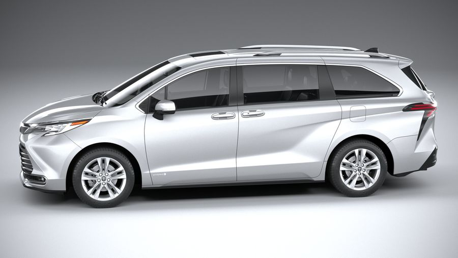 Toyota Sienna 2021 royalty-free 3d model - Preview no. 9