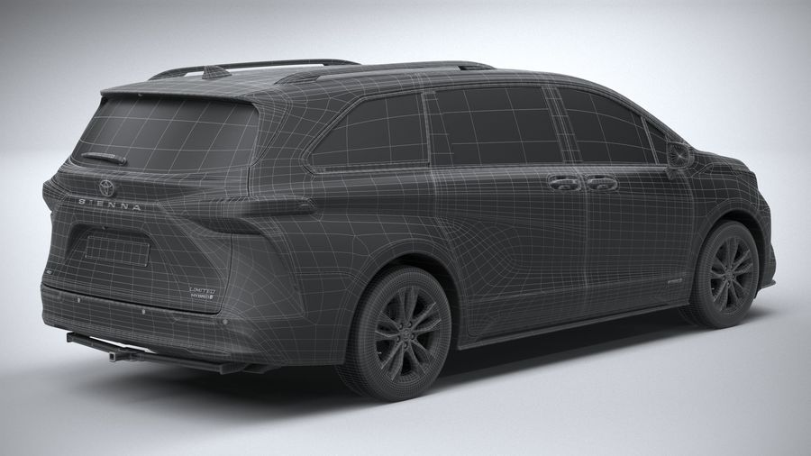 Toyota Sienna 2021 royalty-free 3d model - Preview no. 30