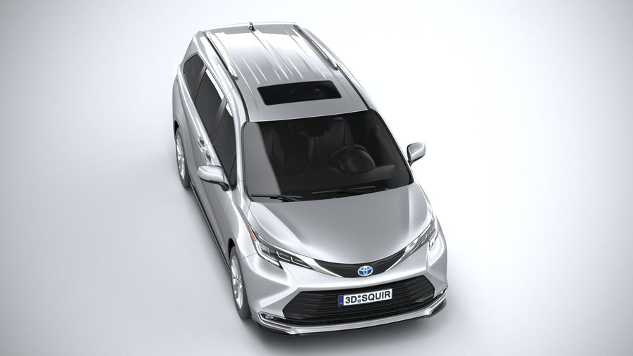 Toyota Sienna 2021 royalty-free 3d model - Preview no. 13