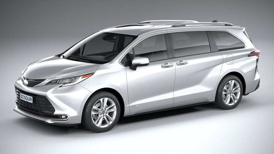 Toyota Sienna 2021 royalty-free 3d model - Preview no. 1