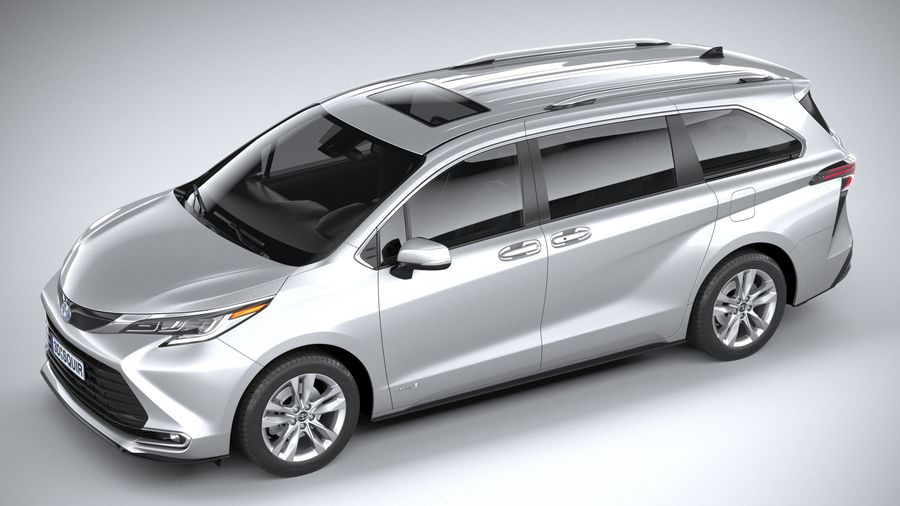 Toyota Sienna 2021 royalty-free 3d model - Preview no. 8