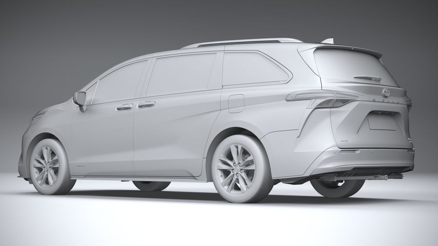 Toyota Sienna 2021 royalty-free 3d model - Preview no. 22