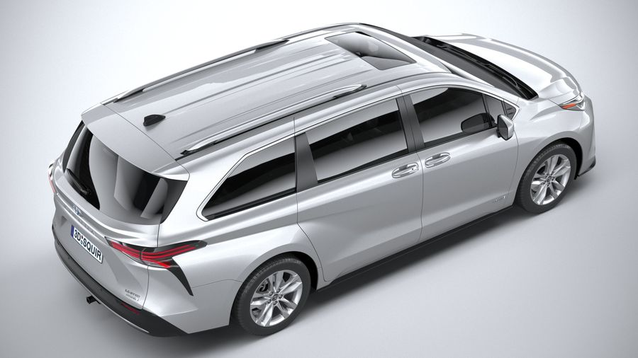 Toyota Sienna 2021 royalty-free 3d model - Preview no. 11