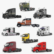 Rigged Semi Trucks Collection 3d model