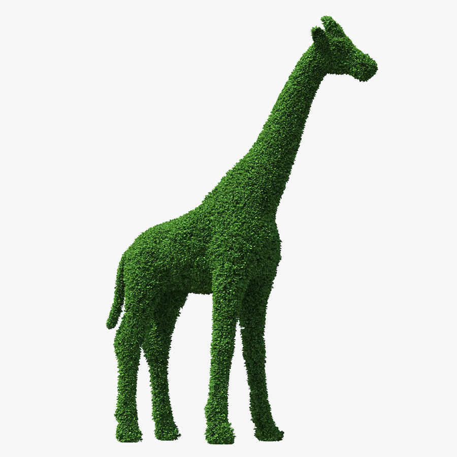 Decorative Giraffe Topiary royalty-free 3d model - Preview no. 1