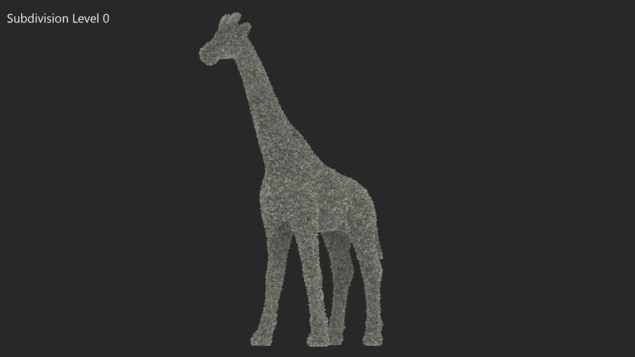 Decorative Giraffe Topiary royalty-free 3d model - Preview no. 10