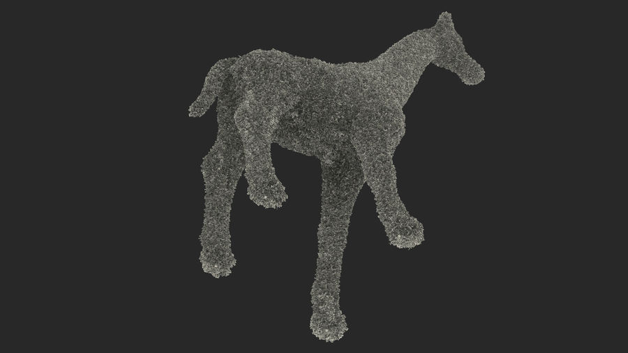 Decorative Giraffe Topiary royalty-free 3d model - Preview no. 18