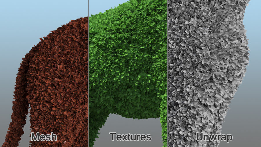 Decorative Giraffe Topiary royalty-free 3d model - Preview no. 9