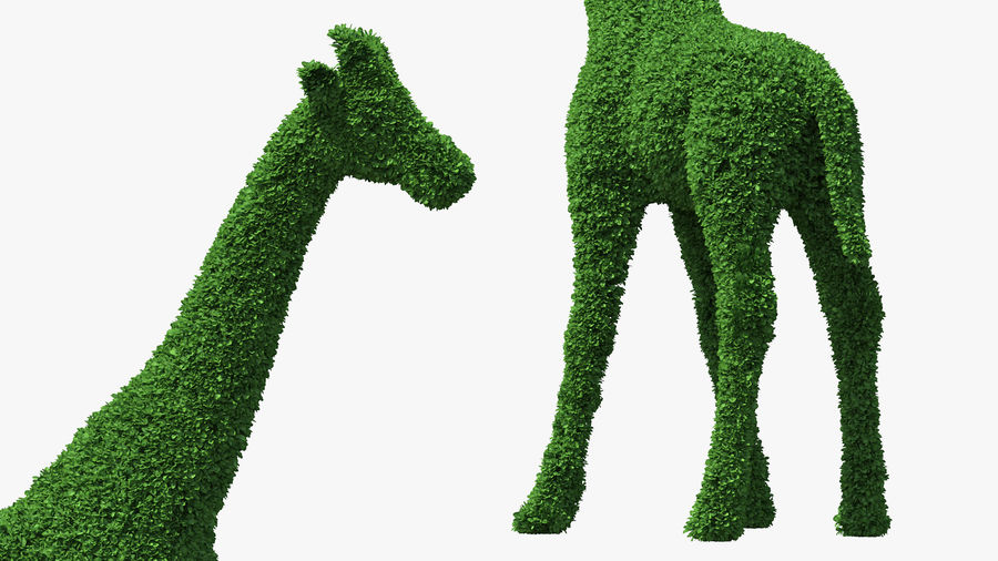 Decorative Giraffe Topiary royalty-free 3d model - Preview no. 6