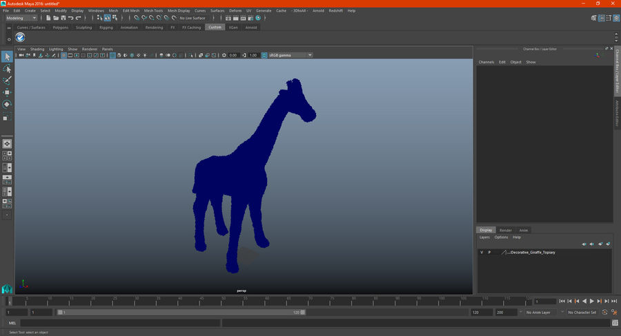 Decorative Giraffe Topiary royalty-free 3d model - Preview no. 20