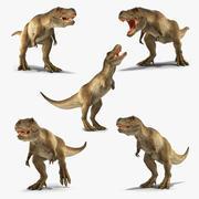 Animasyonlu Tyrannosaurus Rex Koleksiyonu 3d model