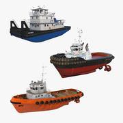 Bogserbåtsamling 2 3d model