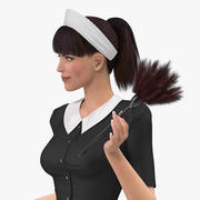 Housekeeping Maid Rigged for Maya 3d model