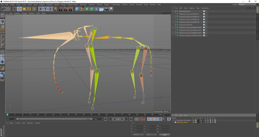 Animated Elephants Collection för Cinema 4D royalty-free 3d model - Preview no. 27