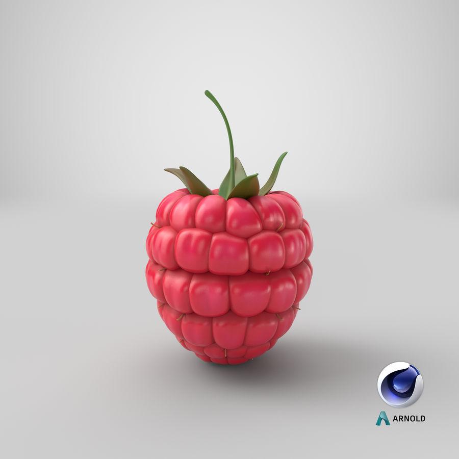 Fresh Cartoon Raspberry royalty-free 3d model - Preview no. 27