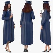 Studentka absolwentka podłączona do Modo 3d model
