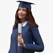 Studentin für Kino 4D manipuliert 3d model