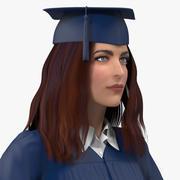 Studentka absolwentka uzbrojona w Mayę 3d model